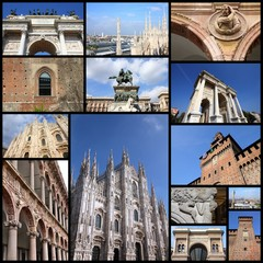 Milan collage