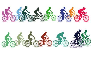 Radfahren in der Gruppe