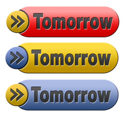 tomorrow button