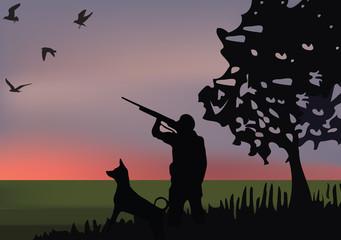 caccia in pianura
