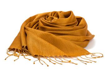 Silk scarf gold