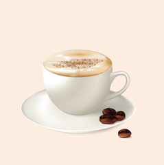 icon: cup of coffee with cream