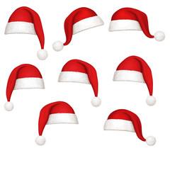 Weihnachtsmützen mit Bommel