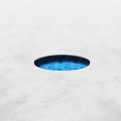 Buco nel ghiaccio/neve