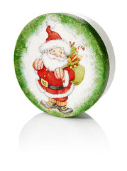 Round Box With Santa Claus