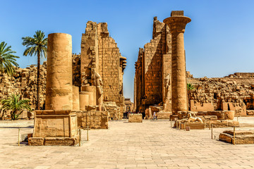 Photo sur Plexiglas Egypte Temple complex of Karnak in Luxor Egypt