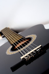 classical acoustic guitar close up