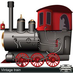 cartoon vintage train