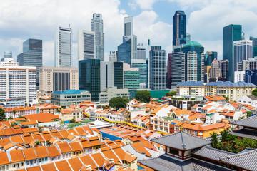 Foto op Canvas Singapore Singapore city skyline