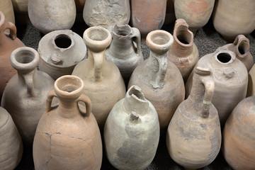 Fototapeta The ancient amphorae. Archaeological finds. obraz