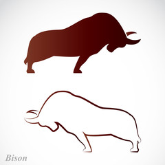 Vector image of an bison