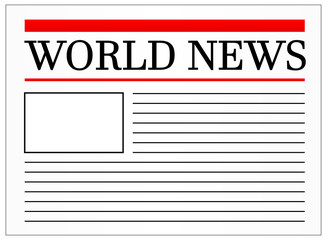 World News Headline In Newspaper