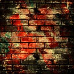 Wall Mural - graffiti brick wall