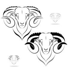stylized ram head