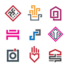 Beautiful geometry shape pixel in every human life graphic