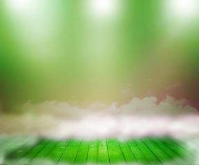 Green Abstract Spotlight Room