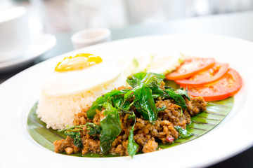 fried pork basil Rice