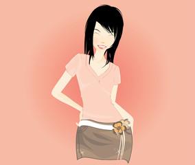 beauty girl vector illustration