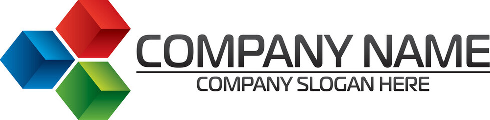 Company logo - three color cube