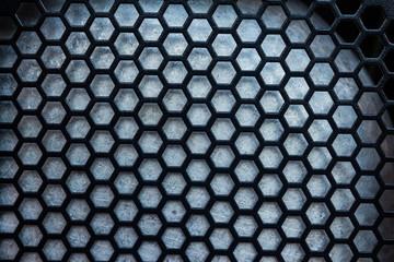 Hexagon net dark background