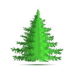 Christmas tree. Vector element for celebratory design