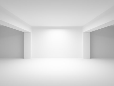 Abstract white empty interior perspective background