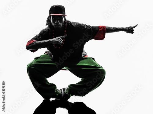 a922997bd hip hop acrobatic break dancer breakdancing young man silhouette ...