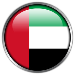 United Arab Emirates Flag glossy button