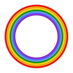 Colorful Rainbow ring Vector Illustration
