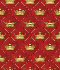 seamless background with crowns