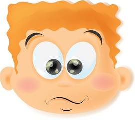 Мультфильм мальчик с смешные лицом