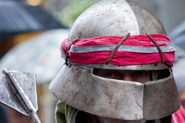 medieval knight archer helmet