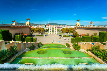 View of Barcellona from Montjuic,