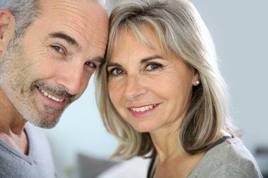 Portrait of cheerful senior couple enjoying life