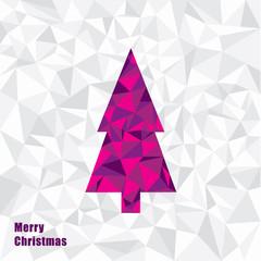 Vector Christmas illustration. Triangle Christmas tree. Fractal