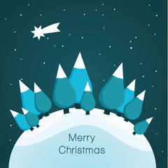 Vector Christmas landscape. Nice illustration for Christmas.
