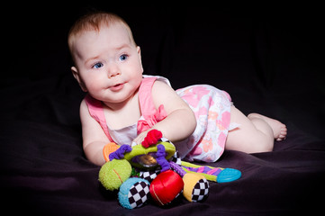 pretty baby and toy