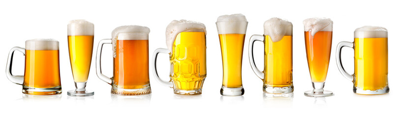 Photo sur Aluminium Alcool beer glass