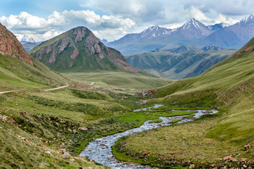 Fototapete - Majestic Tien Shan mountains