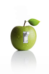Apple with a light switch