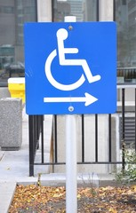 Handicapped sign