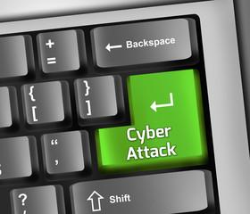 "Keyboard Illustration ""Cyber Attack"""