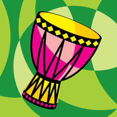 vector image of african drum
