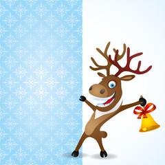 Christmas background. Deer.