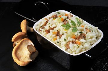 risotto au champignons