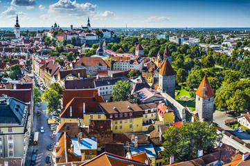 Tallinn Estonia Aerial View