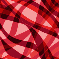 Seamless red wave hand-drawn pattern