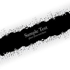 Slanting gray ink grunge banner.