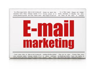 Marketing concept: newspaper headline E-mail Marketing