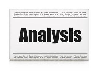 Marketing concept: newspaper headline Analysis